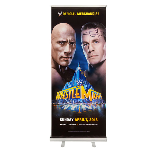 John Cena SIGNED WrestleMania 29 Event Banner-Up