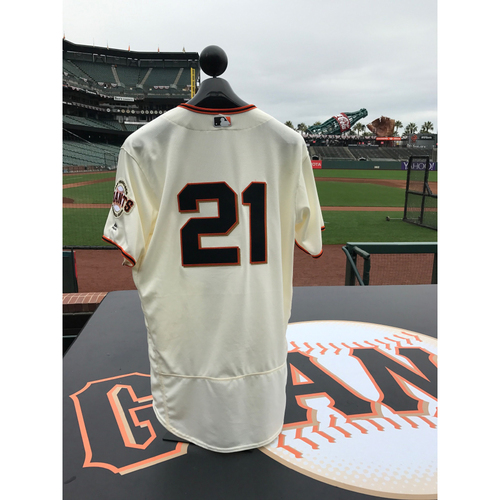 Photo of San Francisco Giants - Home Opening Day Jersey - Game Used - Conor Gillaspie #21