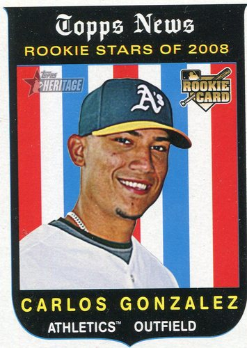Photo of 2008 Topps Heritage #578 Carlos Gonzalez (RC)