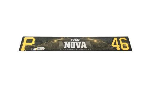 Photo of Ivan Nova Game-Used Spring Training Locker Name Plate
