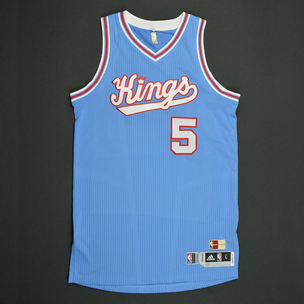 Malachi Richardson - Sacramento Kings - Game-Worn Blue '1985-86 Road Hardwood Classics' Jersey - 2016-17 Season