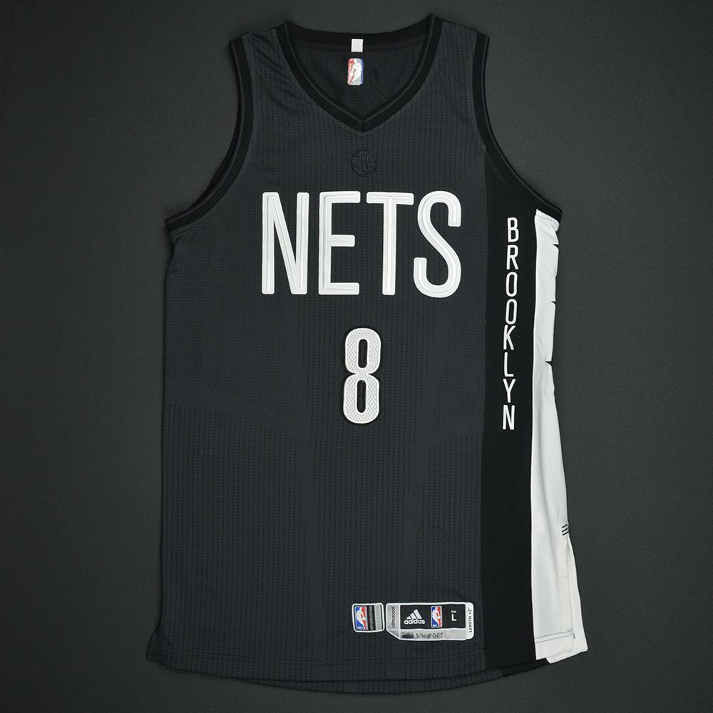 Spencer Dinwiddie - Brooklyn Nets - Game-Worn Black Alternate Jersey - 2016-17 Season
