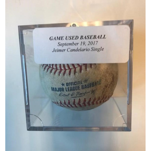 Photo of Game-Used Baseball: Jeimer Candelario Single