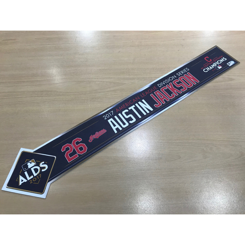 Photo of Austin Jackson 2017 American League Division Series Locker Name Plate