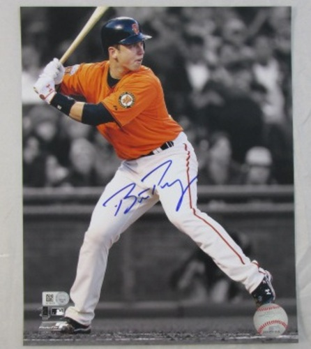 Photo of Buster Posey Autographed Spotlight 16x20