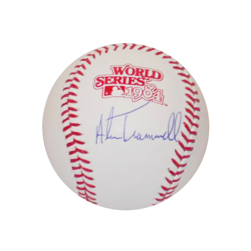 Photo of Detroit Tigers Alan Trammell Autographed 1984 World Series Logo Baseball