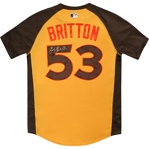 Photo of Zach Britton 2016 Major League Baseball Workout Day/Home Run Derby Autographed Jersey
