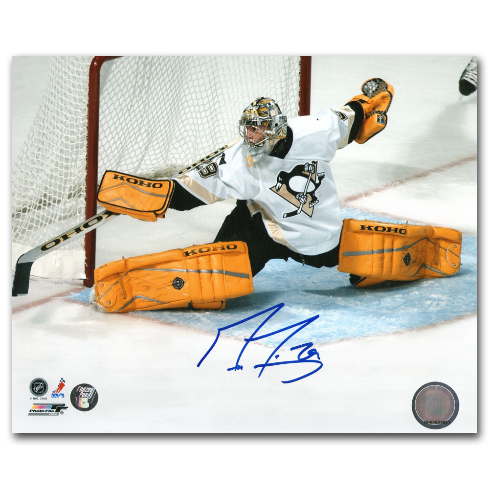 Marc-Andre Fleury Autographed Rookie Year Pittsburgh Penguins 8X10 Photo