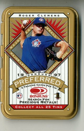 Photo of 1997 Donruss Preferred Tin Packs Gold #4 Roger Clemens
