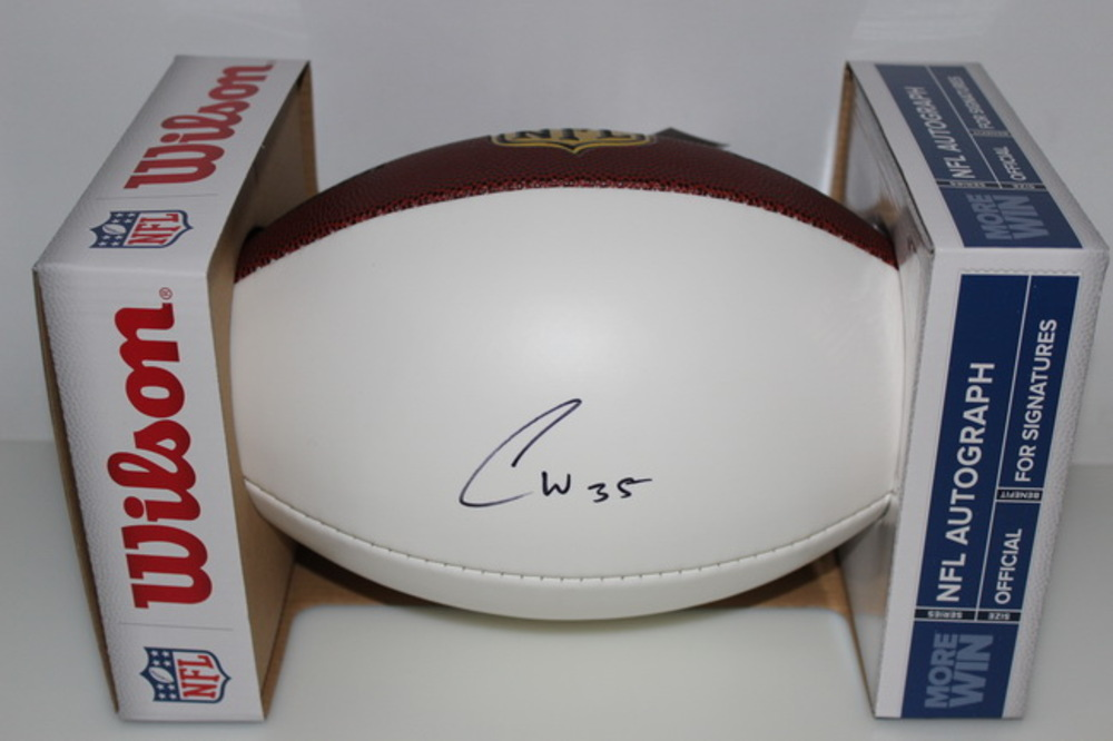 CHIEFS - CHARCANDRICK WEST SIGNED PANEL BALL