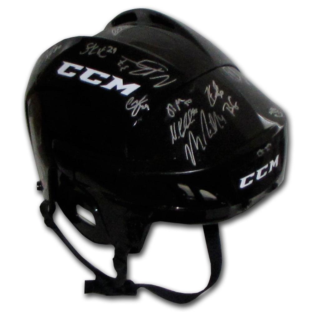 2015 NHL Rookies Multi-Signed CCM Helmet - 22 Signatures Including McDavid, Eichel & Marner