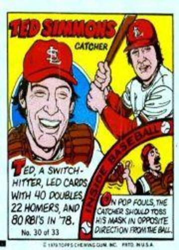 Photo of 1979 Topps Comics #30 Ted Simmons