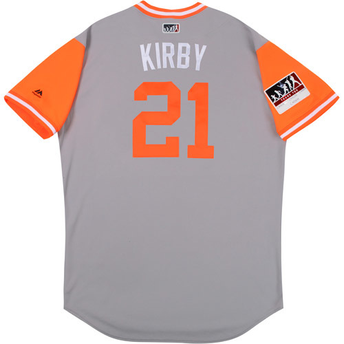 "Photo of Wayne ""Kirby"" Kirby Baltimore Orioles Game-Used Players Weekend Jersey"