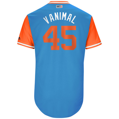 "Photo of Vance ""Vanimal"" Worley Miami Marlins Game-Used Players Weekend Jersey"