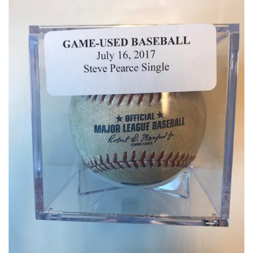 Photo of Game-Used Baseball: Steve Pearce Single