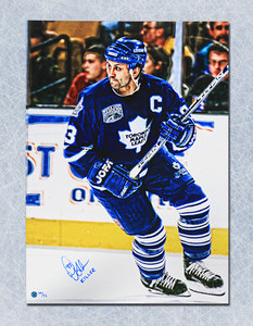 Doug Gilmour Toronto Maple Leafs Autographed 24x35 Art Canvas LE/93