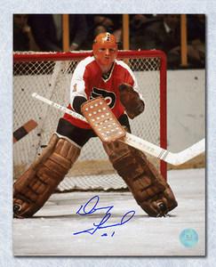 Doug Favell Philadelphia Flyers Autographed Halloween Mask 8x10 Photo