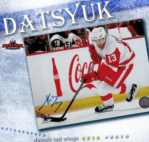 PAVEL DATSYUK Signed Detroit Red Wings 8 X 10 Photo - 70211