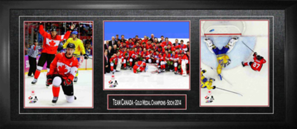 Framed Team Canada 2014 Sochi Gold Medal Champions Piece