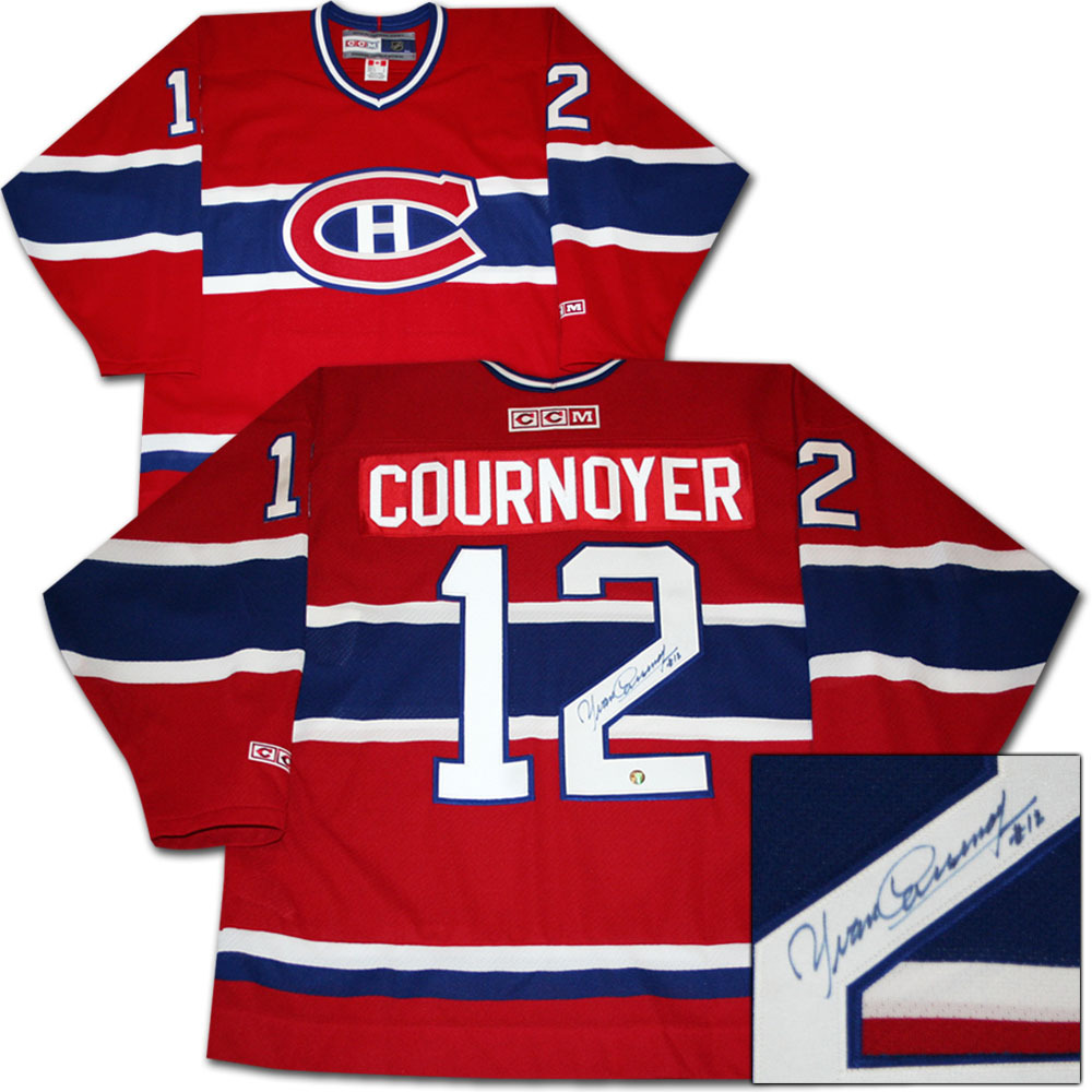 Yvan Cournoyer Autographed Montreal Canadiens Jersey