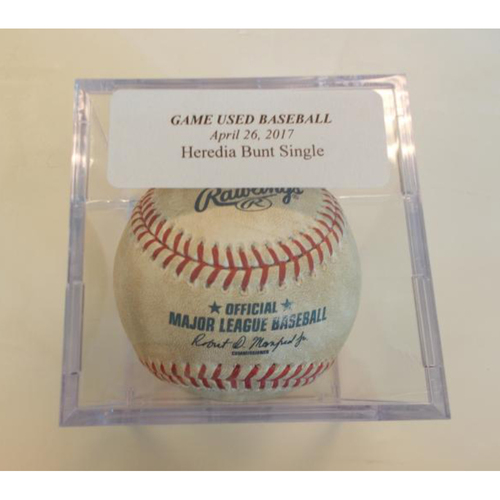 Photo of Game-Used Baseball: Guillermo Heredia Bunt Single