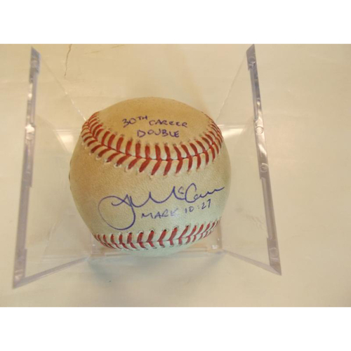 Photo of Autographed Game-Used Baseball: James McCann 30th Career Double
