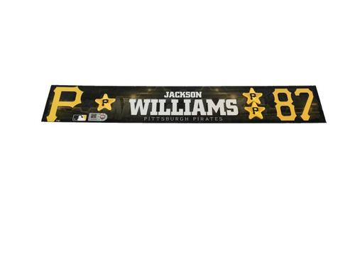 Photo of Jackson Williams Game-Used Spring Training Locker Name Plate