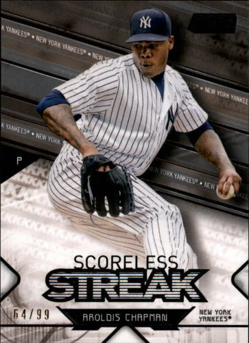 Photo of 2017 Stadium Club Scoreless Streak Black #SSAC Aroldis Chapman