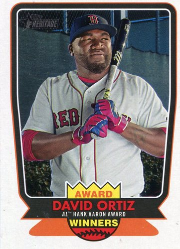 Photo of 2017 Topps Heritage Award Winners #AW10 David Ortiz