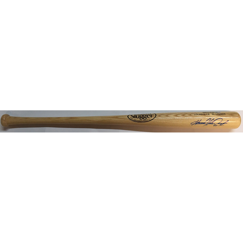 Photo of Howie Kendrick Autographed Blonde Louisville Slugger Bat