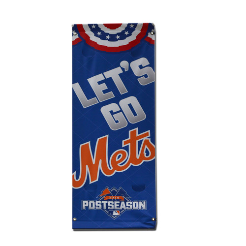 Photo of Citi Field Banner - Let's Go Mets- 2015 Postseason