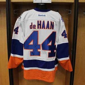Calvin DeHaan - Game Worn Away Jersey - 2015-16 Season - New York Islanders