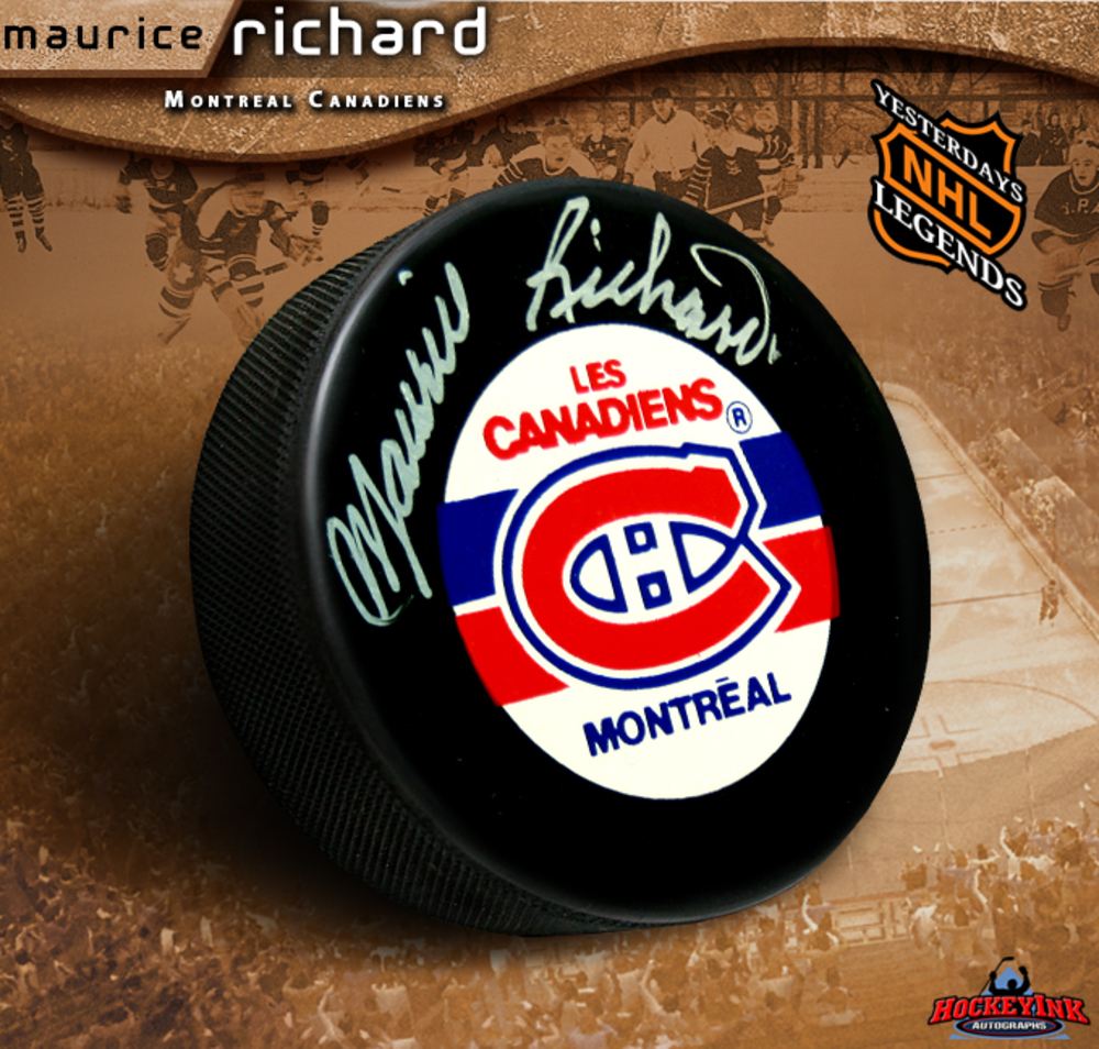 MAURICE RICHARD Signed Montreal Canadiens Hockey Puck