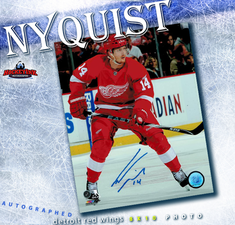 GUSTAV NYQUIST Signed Detroit Red Wings 8 X 10 Photo - 70356