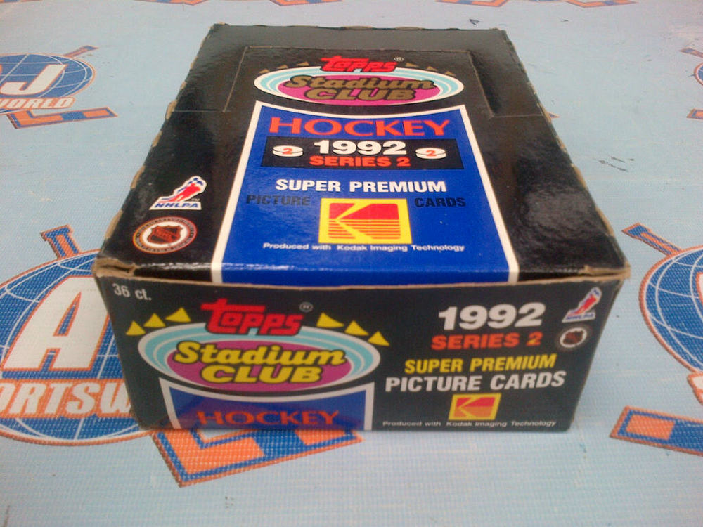 Box of 1992 Topps Stadium Club Series 2 Hockey Cards *36 UNOPENED PACKS* *15 CARDS PER PACK*
