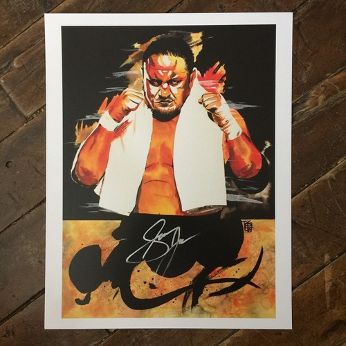 Photo of Samoa Joe SIGNED 11 x 14 Rob Schamberger Print