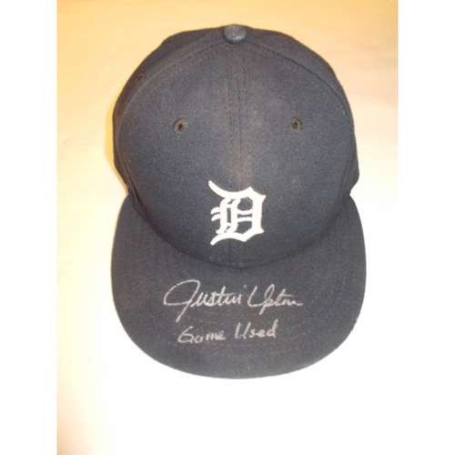 Photo of Autographed Justin Upton Game-Used Home Cap