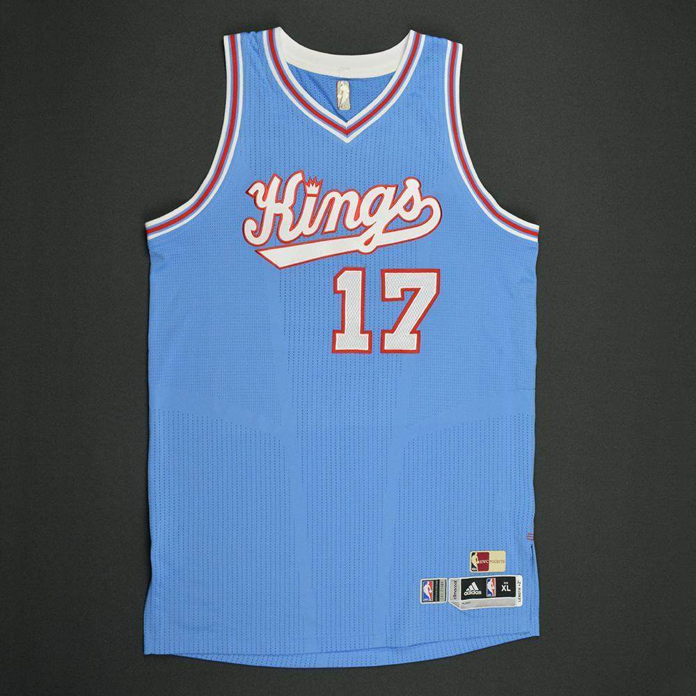Garrett Temple - Sacramento Kings - Game-Worn Blue '1985-86 Road Hardwood Classics' Jersey - 2016-17 Season