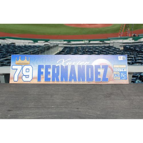 Photo of Xavier Fernandez Spring Training Locker Name Plate