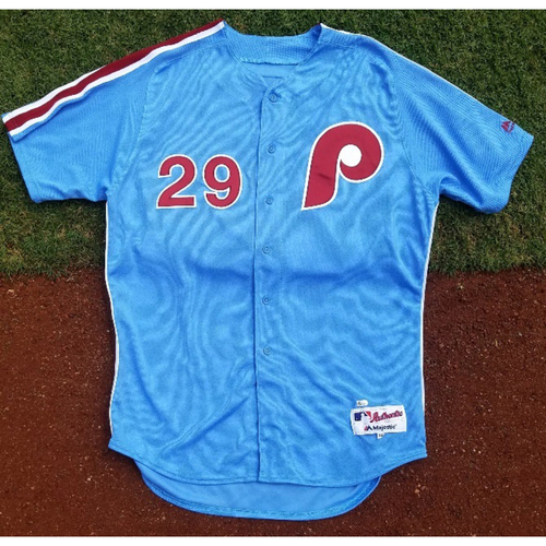 Photo of 2017 Game-Used Retro Road Cameron Rupp Jersey