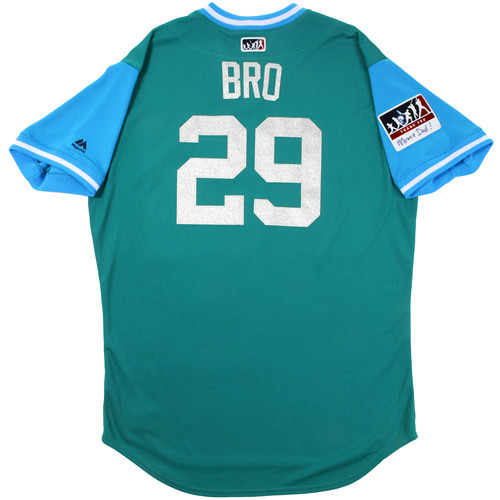 "Photo of Scott ""Bro"" Brosius Seattle Mariners Game-Used Players Weekend Jersey"
