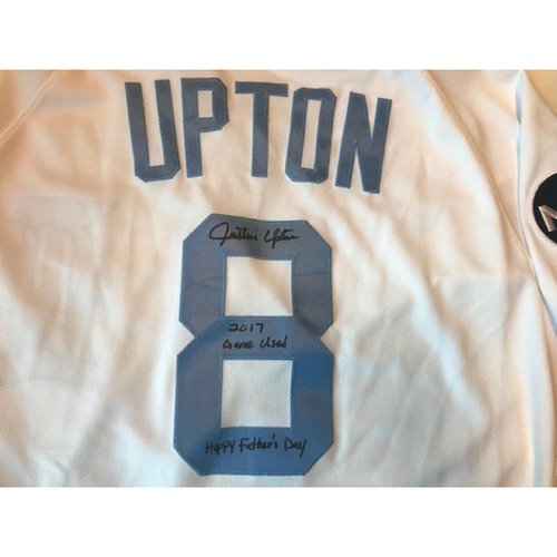 Photo of Autographed Game-Used Father's Day Jersey: Justin Upton