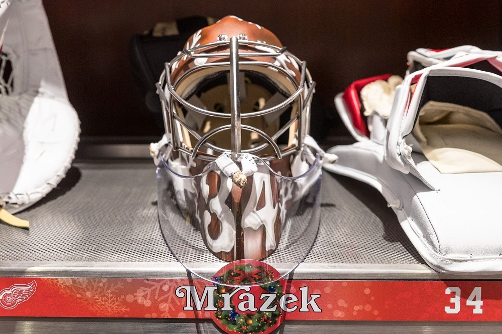 Petr Mrazek (#34)-Custom Holiday Goalie Mask