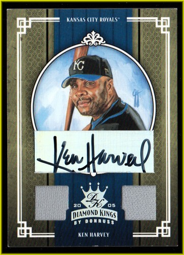 Photo of 2005 Diamond Kings Signature Materials Silver #351 Ken Harvey Jsy-Jsy/25