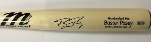 Photo of Buster Posey Autographed Game Model Marucci Bat