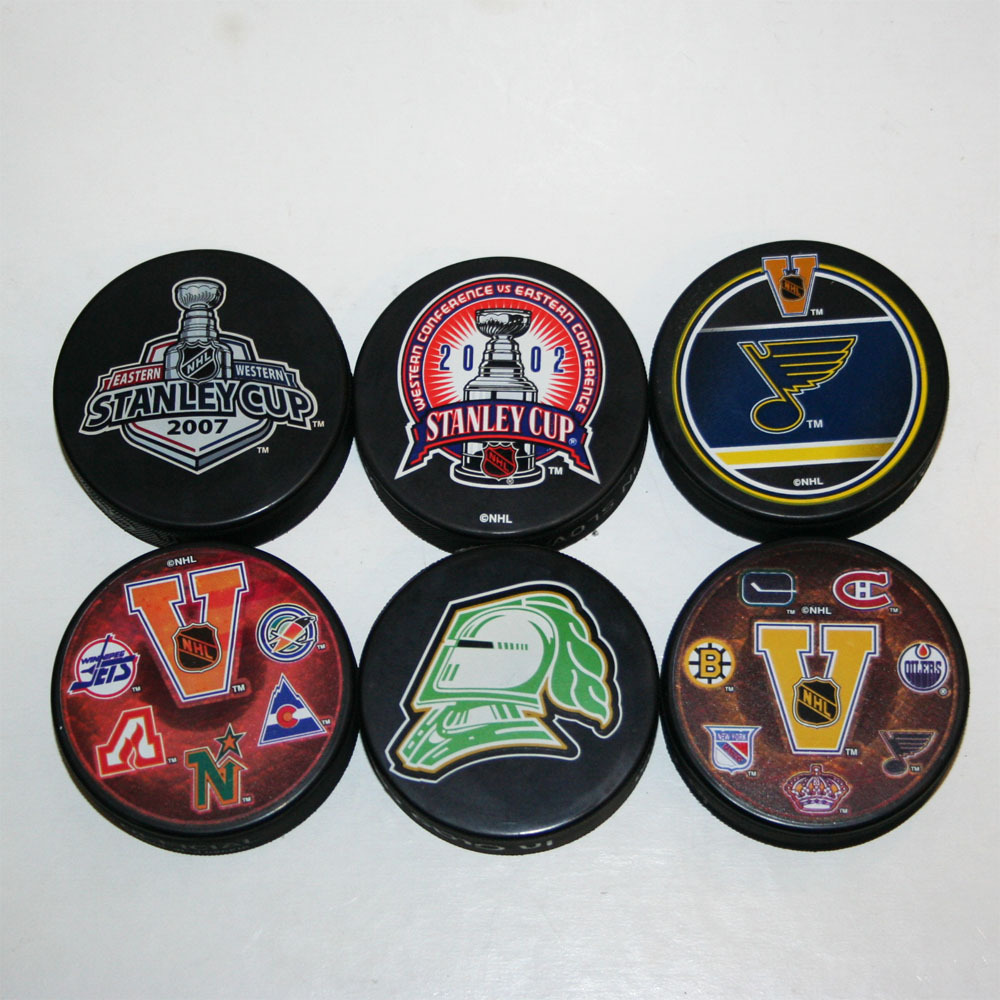 NHL Souvenir Pucks - Lot of 6