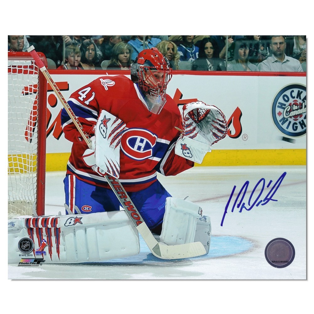 Jaroslav Halak Autographed Montreal Canadians 8x10 Photo