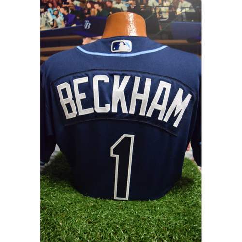 Photo of First Career 2-HR Game-Used Jersey: Tim Beckham