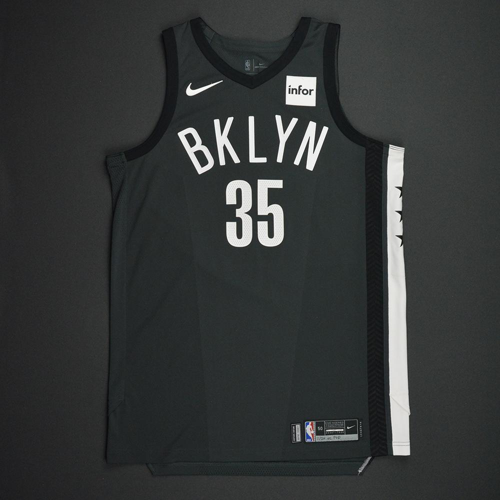 Trevor Booker - Brooklyn Nets - Statement Game-Worn Jersey - 2017-18 Season