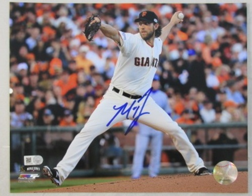 Madison Bumgarner Autographed Giants Delivery 16x20
